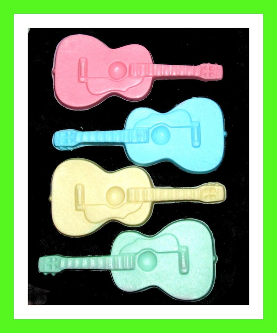 24 Large Guitar Soap Favors,Birthday Favor,Baby Shower Favor,Boy Party, Guitar Theme Favor,Musical Instrument Favors