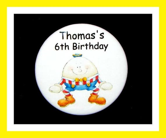 Birthday Party Favors, Personalized Button,Nursery Rhyme Pin Favor,School Favors,Kids Party Favor,Boy Birthday,Girl Birthday,Pins, Set of 10