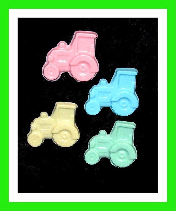 24 Tractor Soap Favors,Baby Shower Favors,Birthday Party Favors,Personalized Button Pin,Girl Birthday Favors, farmer