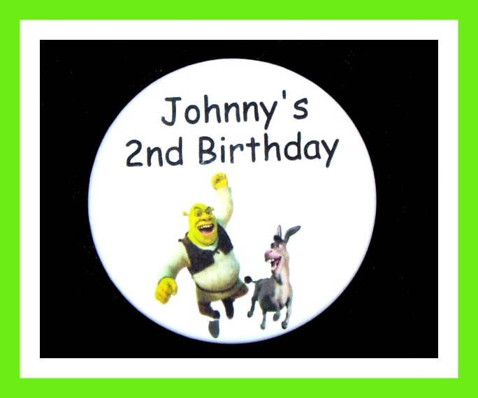 Birthday Party Favors Personalized Button Cartoon Pin Favor