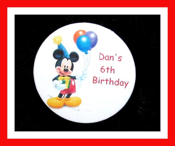 Birthday Party Favors, Personalized Button,Mouse Pin Favor,School Favors,Kids Party Favors,Boy Birthday,Girl Birthday,Pins, Set of 10