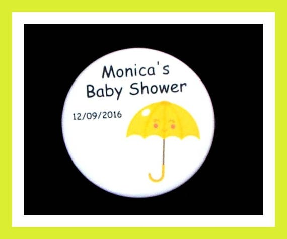 Baby Shower Umbrella Pins,Personalized Button,Favor Tag,Its a girl,Its a Boy,Party Favor,Birthday Party Favors,Personalized Favors,Set of 10