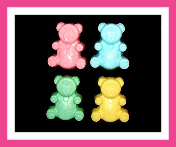 10 Bear Soap Favors, Baby Shower Favors,Personalized Baby Shower Button Pin,Birthday Party,Its a Girl,Its a Boy