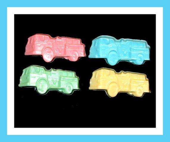 24 Fire Truck Soap Favors,Birthday Party Favor,Baby Shower Favor,Personalized Button Pin,Girl Birthday Favor,Boy