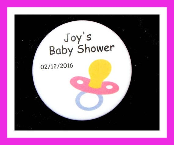 Baby Shower Pacifier Favors,Personalized Buttons Pins,Favor Tags,Its a girl,Party Favors,Birthday Party Favors,Personalized Favors,Set of 10