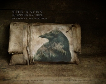 Instant Download E-Pattern PDF The Raven - Scented Sachet Raven Image Included by Walnut Ridge Primitives