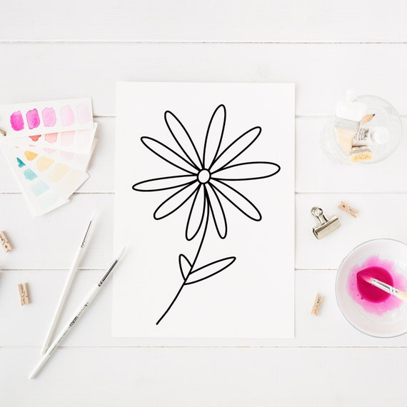 Daisy Flower Coloring Page For Girls Fun Summer Coloring