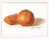 Tangerine Watercolor Print • Gourmet Food Art Print • Stylish Kitchen Decor • Modern Kitchen Wall Decor • Citrus Watercolor • Gift for Mom