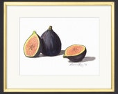 Figs Watercolor Painting Gourmet Food Art Print • Stylish Kitchen Decor • Modern Kitchen Wall Decor • Fruit Watercolor Prints • Gift for Mom