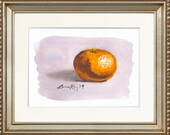 Orange Watercolor Print • Gourmet Food Art Print • Stylish Kitchen Decor • Modern Kitchen Wall Decor • Citrus Watercolor • Gift for Mom