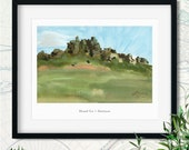 English Ruins Watercolor Giclée Print | Hound Tor in Dartmoor