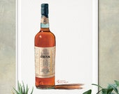 Bottle of Oban 14 Year Whisky Giclée Watercolor Print
