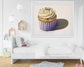 Frosted Cupcake Painting Giclée Print