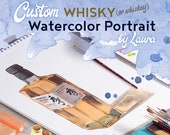Custom Whisky/Whiskey Original Watercolor Painting