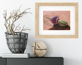 Turnip Oil Painting Print • Vegetable Painting Prints • Kitchen Decor • Gifts for Mom • Kitchen Wall Prints • Modern Kitchen Wall Art