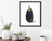 Baby Purple Eggplant Watercolor Giclée Print