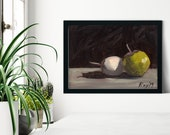 Pair of Baby Eggplants Oil Painting Giclée Print