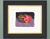 Dragon Fruit Watercolor Giclée Print