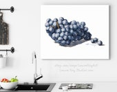 Cabernet Sauvignon Grapes Watercolor Giclée Print