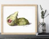 Baby Artichoke Watercolor Giclée Print
