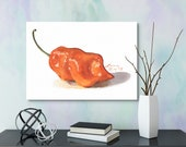 Habanero Pepper Watercolor Giclée Print