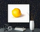 Bright Lemon Watercolor Giclée Print