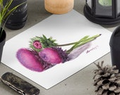 Thistle Flower Watercolor Print • Gourmet Food Fine Art Print • Stylish Kitchen Decor • Modern Kitchen Wall Decor • Floral Watercolor