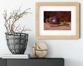 Red Onion Oil Painting Print • Vegetable Painting Prints • Kitchen Decor • Gifts for Mom • Kitchen Wall Prints • Modern Kitchen Wall Art