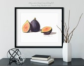 Halved Figs Watercolor Giclée Print