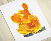 Chicken of the Woods Mushroom Watercolor Print • Mushroom Kitchen Art • Food Watercolor Prints • Gifts for Mom • Modern Kitchen Wall Decor
