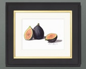 Figs Watercolor Print • Gourmet Food Art Print • Stylish Kitchen Decor • Modern Kitchen Wall Decor • Fruit Watercolor Prints • Gift for Mom