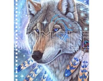 Mystic Wolf Notebook