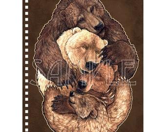 Bear Family Hugs Notebook