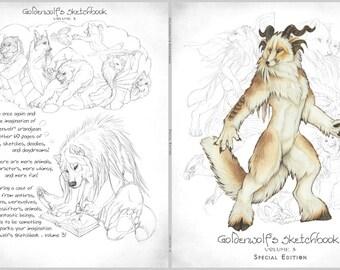 Goldenwolf's Sketchbook Volume 3 - Special Edition