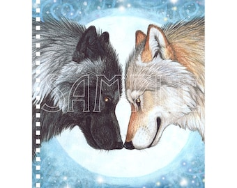 Wolf Moon Mates Notebook