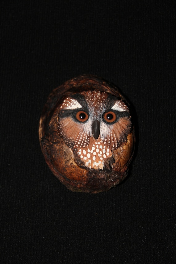 Wood Carving - OOAK -  Hand Carved, and Sculpted, Owl ,Bird, Wall Art
