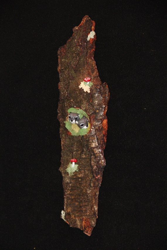 Wood Carving -  Squirrel Sculpture - Wall Art
