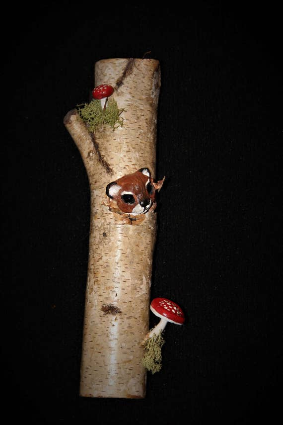 Realistic Squirrel Wood Sculpture Carving