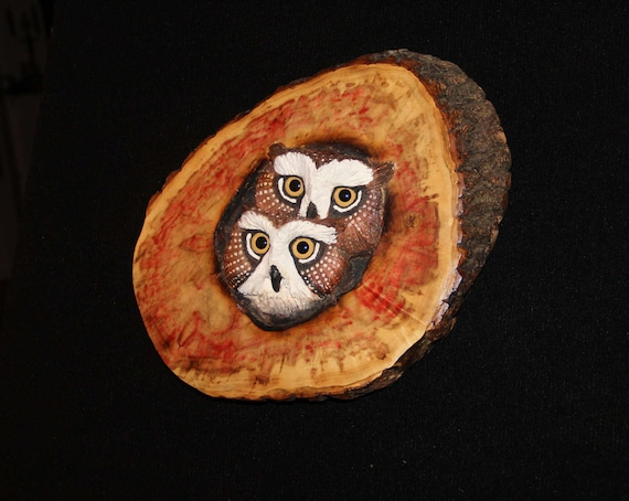 Wood Carving -  Owl Art - Bird Art- OOAK -  Hand Carved and Sculpted - Wall Art