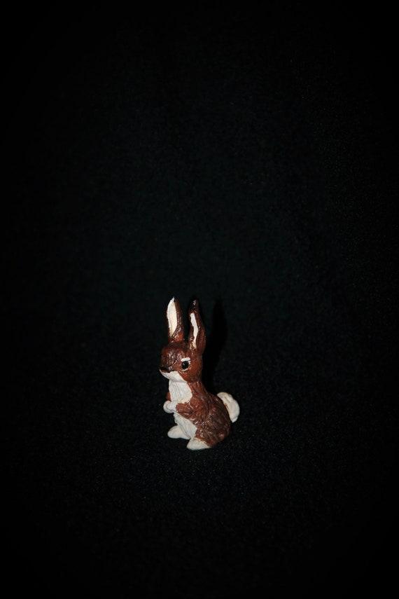 Fairy Garden Doll House Decor Ceramic Hand Sculpted Bunny Rabbit