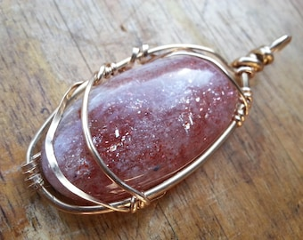 Sunstone Pendant 14 K Gold Filled