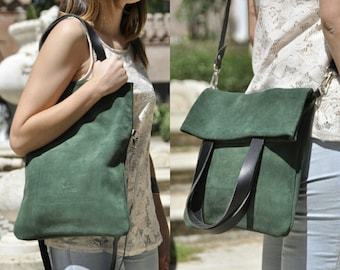 OFFER - Leather bag - MERY model in green leather