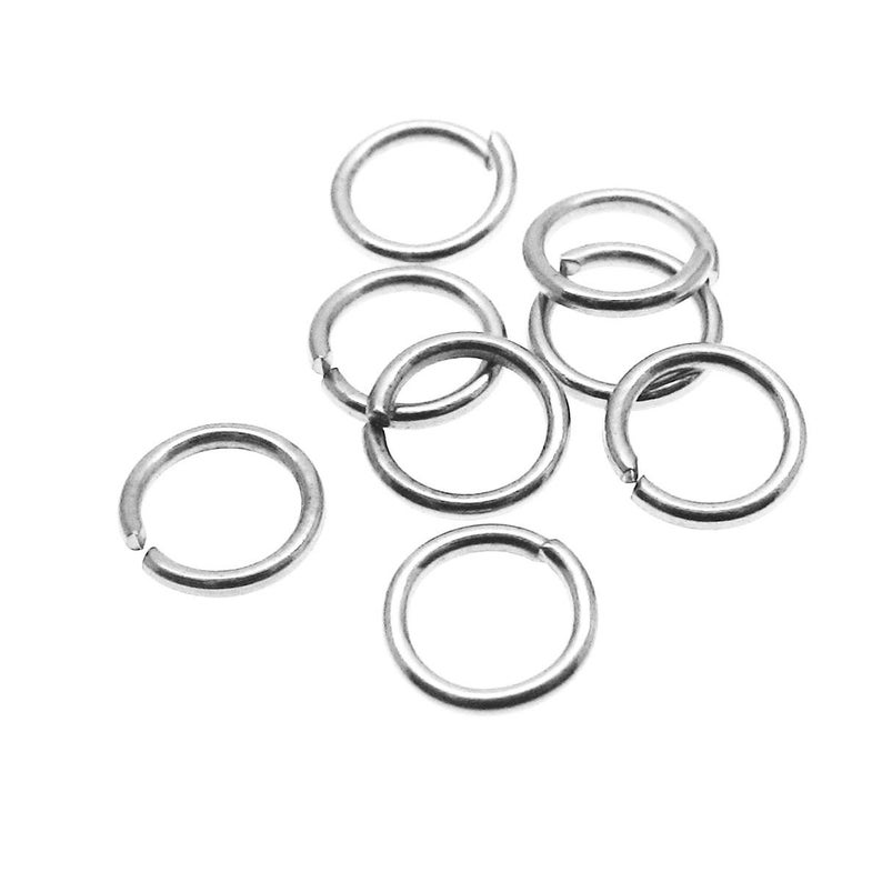 50 x 5mm OPEN JUMP RINGS SILVER PLATED  STRONG  .8mm Gauge
