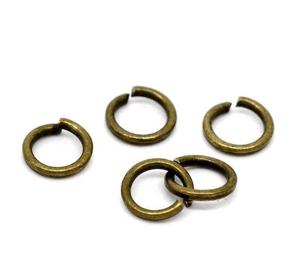 5mm 300pcs Antique Brass Bronze Jump Rings Jewelry Findings Open Split Earrings