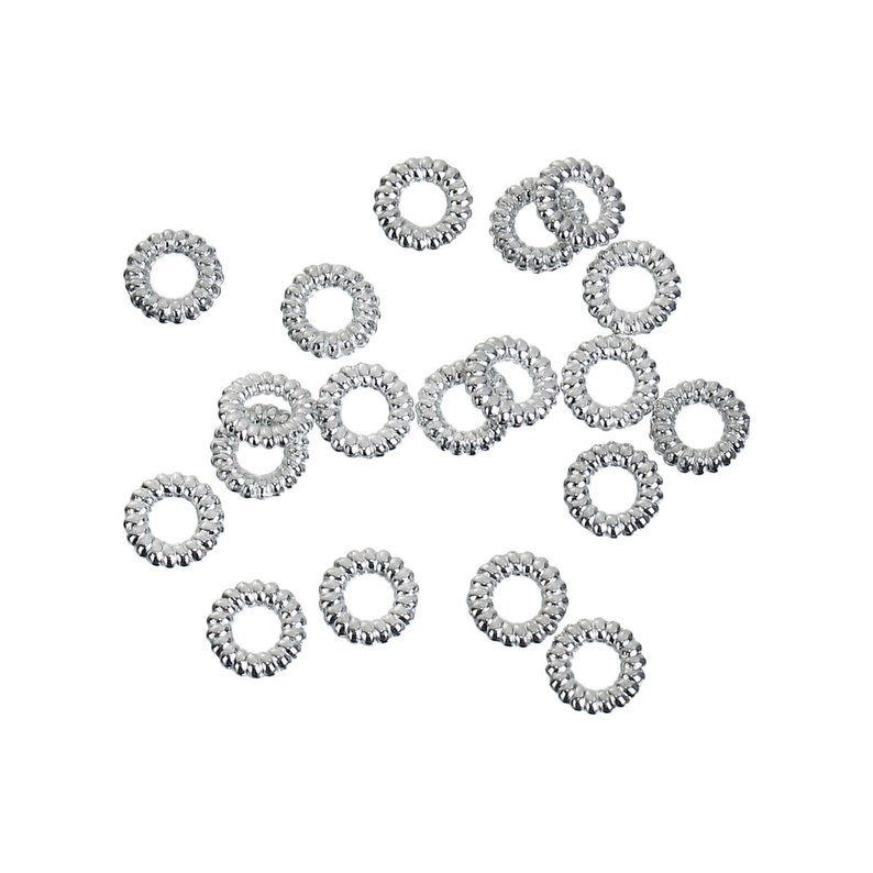 -- Lead 100 pieces Closed Soldered Braided Antique Silver 5mm Jump Rings Findings /& Cadmium free 85794.K4B Nickel
