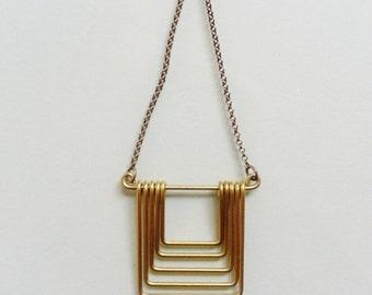 Small Square Fade Necklace