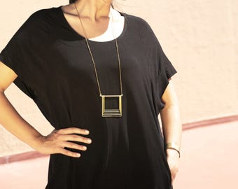 Large Square Fade Necklace