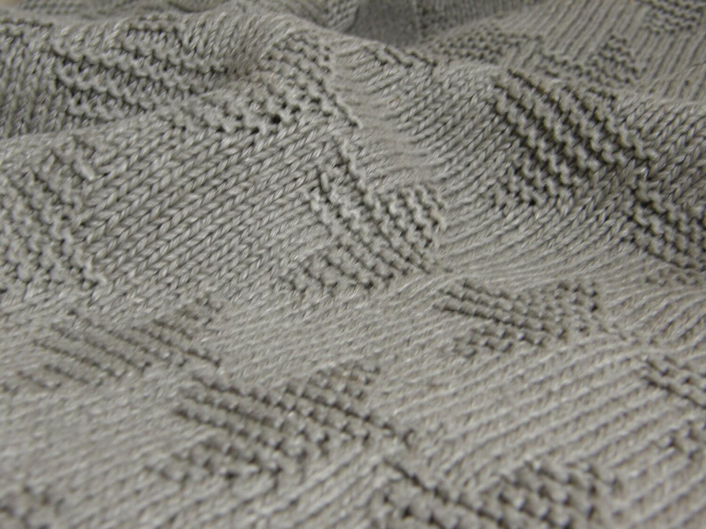 Le lin jettent la couverture gris-coton jettent la couverture-main en tricot organique de couverture-lin-linge-couverture-couverture-couverture personnalisée de taille-natural-éco
