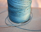 Turquoise Waxed Linen Thread - 50 Yards - 1 mm diameter - Tie, Strap, Band, Rope, Twine