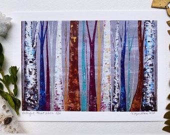 Tree Print, Tree Artwork, Tree Watercolor, Aspen, Birch, Forest, Woodland, Rustic, Original Painting Print MyImaginationIsYours